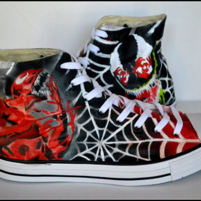e23d6b3f3a4 Buy Hand Made Custom Converse, Unisex Converse, Venom,Carnage, Hightops,  Painted Shoes, Unisex High Tops, made to order from PricklyPaw |  CustomMade.com