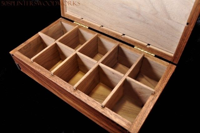Walnut Spice Box