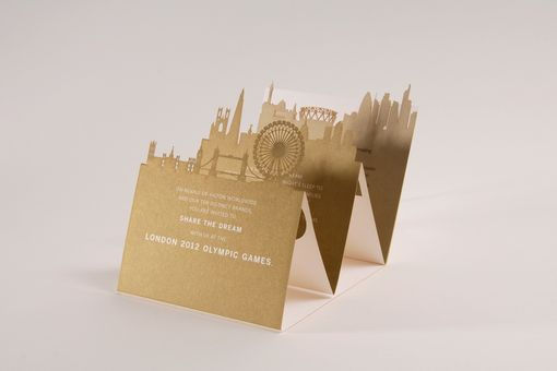 Custom Made Laser Cut Vip Invitations For 2012 Olympics
