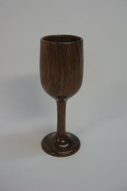 Custom Made Walnut Wine Glass