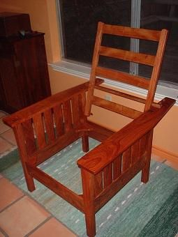 Custom Made Morris Chair From Mesquite Wood
