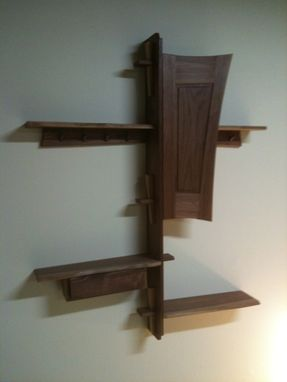 Custom Made Black Walnut Cabinet Shelf