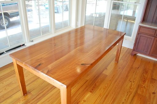 Custom Made Cherry Table Crafted From Antiqe Lumber