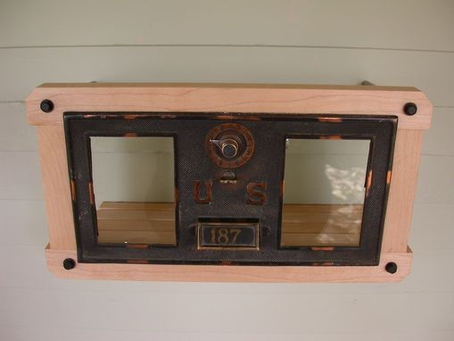 Custom Made Modern Vintage Mailbox - Antique Brass & Maple Hardwood