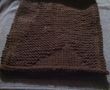 Custom Made Brown Knitted Horse Cotton Cloth For Bathroom, Kitchen, And More