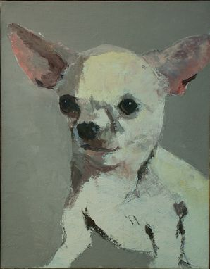 Custom Made Chihuahua Dog Portrait Painting
