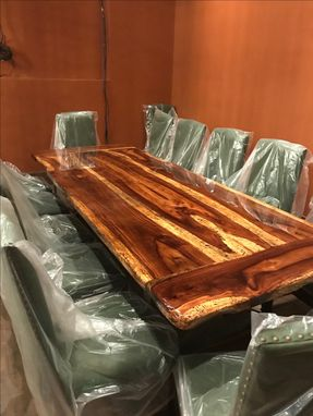 Custom Made Xxl Dining Table Or A Exotic Wood Boardroom Conference Tables