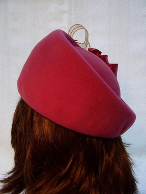 Custom Made Pink Brimless Hat With Applique