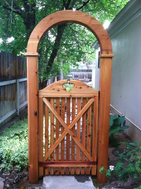 Custom Made Custom Gate W/ Arch