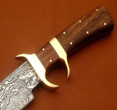 Custom Made Damascus Bowie Knife