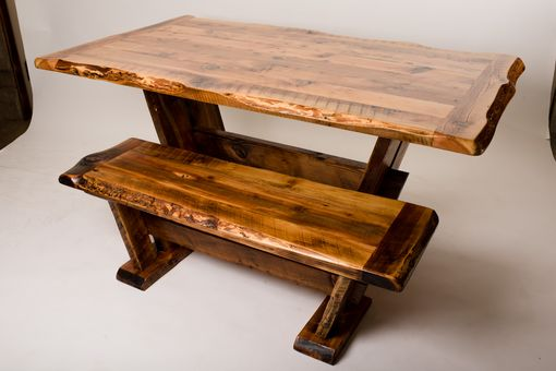 Custom Made Trailmap Trestle Dining Set