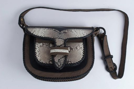 Custom Made Paisa Carriel / A Classic Leather Handbag In An Exotic Colorway