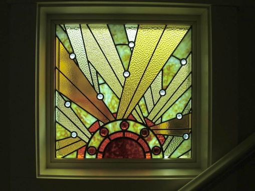 Custom Made Stairway Landing Window