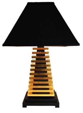 Custom Made Gold Leaf Table Lamp