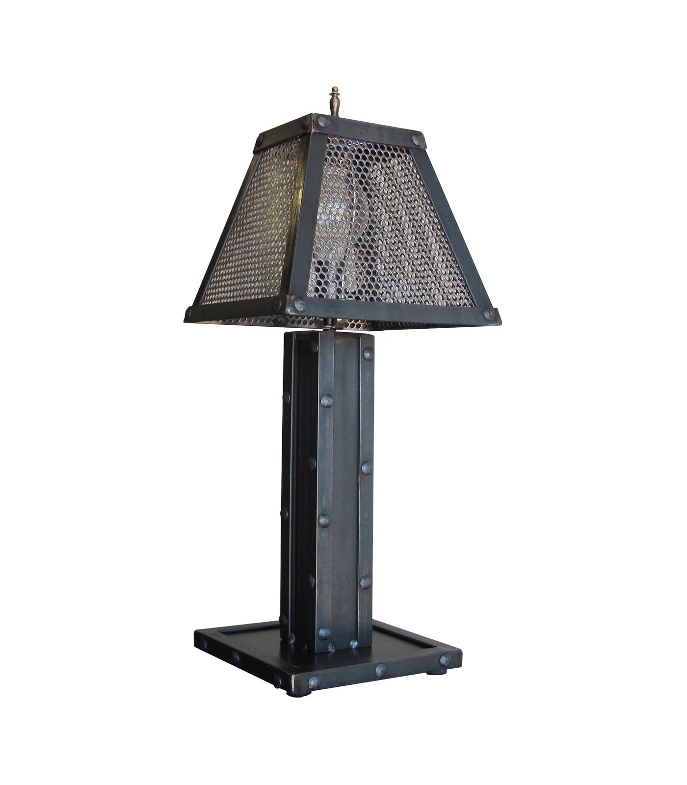 Buy A Custom Vintage Industrial Steel Rivet Design Desk Table Lamp