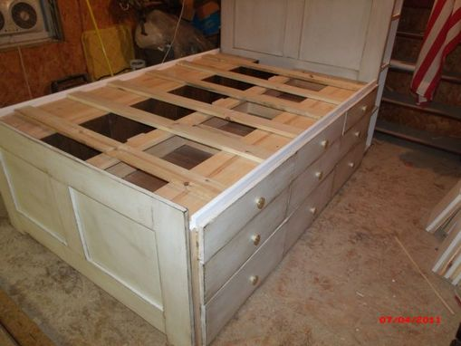 Custom Made Full Platform Storage Captain's Bed With Drawers