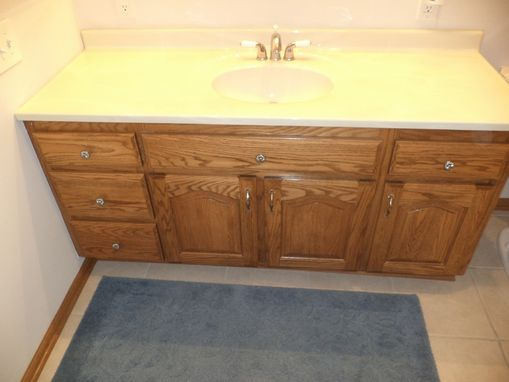 Custom Made 5' Raised Panel Oak Vanity