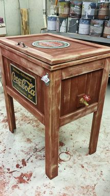 Custom Made Cedar Cooler Stand