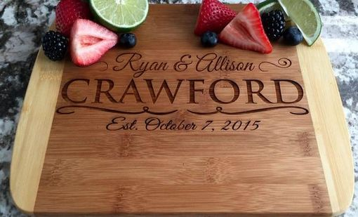 Custom Made Personalized Cutting Board 8.5x11 (Rounded Edge) Bamboo