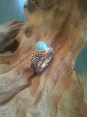 Custom Made Silver And Turquoise Ring