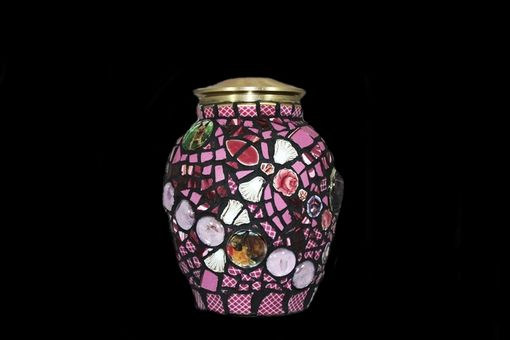 Custom Made Mosaic Pet Urn With Photo Montage