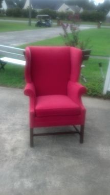 Custom Made Custom Reupholstered Wing Chair