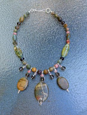 Custom Made Jasper And Sterling Necklace