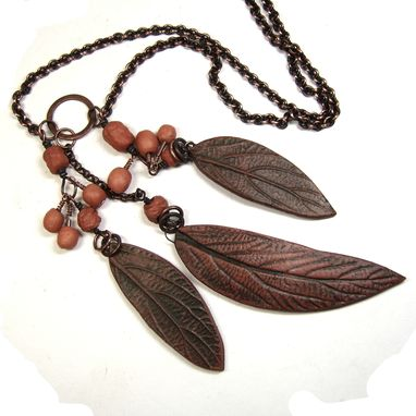 Custom Made Three Leaves Necklace