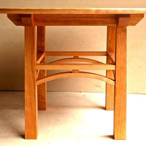 cherry and maple kitchen table by philip culbertson - Mission Style Dining Table