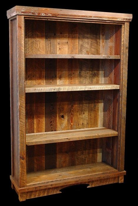 Custom Made Reclaimed Barn Wood Bookcase