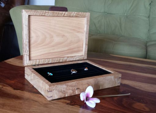 Custom Made Curly White Oak Ring Box