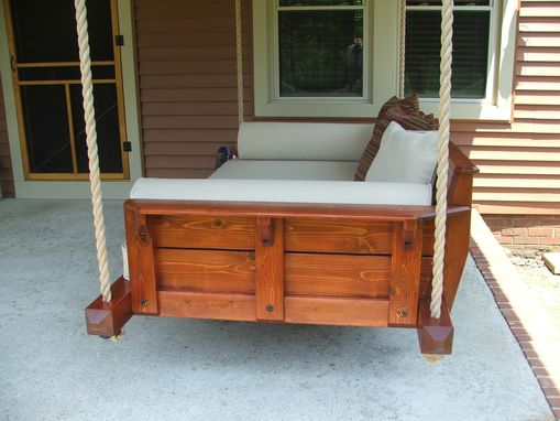 Custom Made Rustic Porch Bed Swing