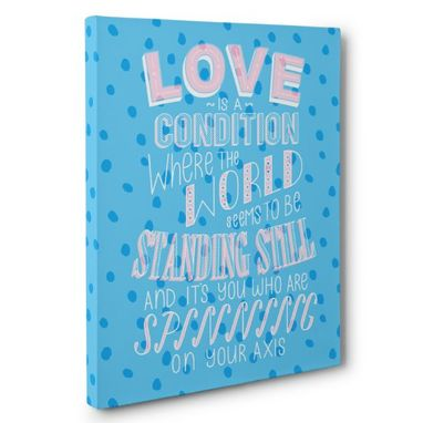 Custom Made Love Is A Condition Canvas Wall Art