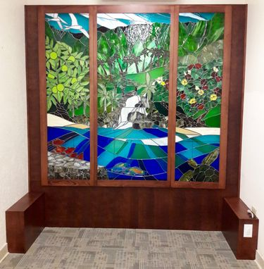 Custom Made Stained Glass Panels For Prayer Room - Kahao`Iki