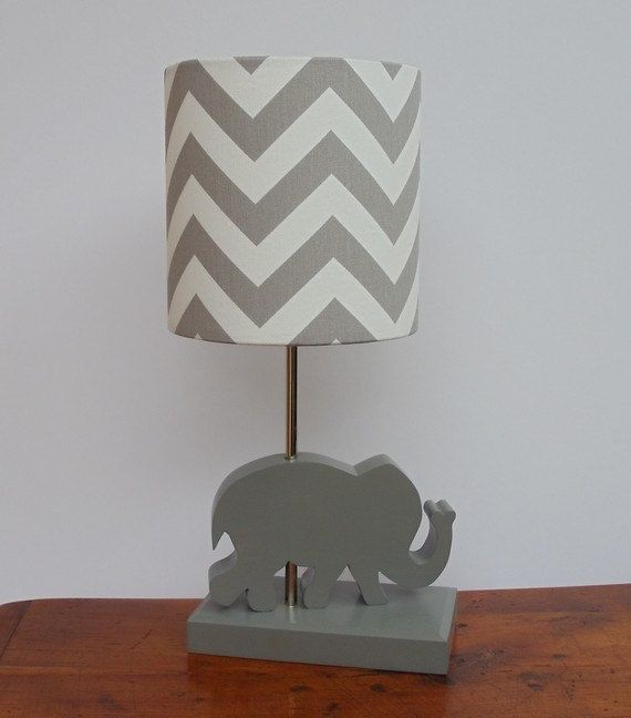 Custom Made Handmade Wooden Animal Lamps For Nursery Kids Room