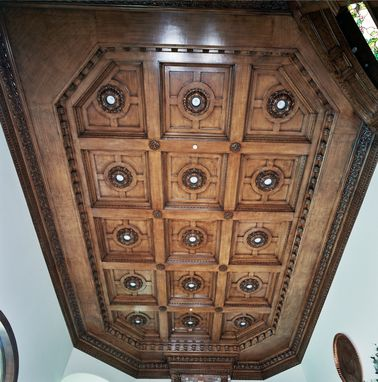 Custom Made Custom Maple Coffered Ceiling
