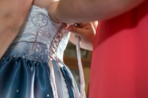 Custom Made Custom Alice In Wonderland Wedding Dress
