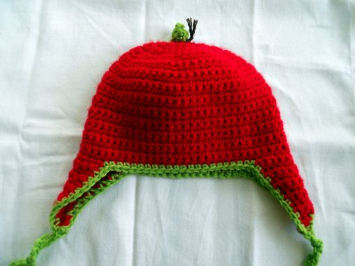 Custom Made Crochet Toddler Apple Hat