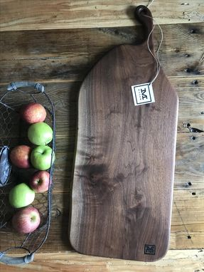 Custom Made - The Felicity - Extra Large Walnut Cutting/Serving Board With Curved Handle