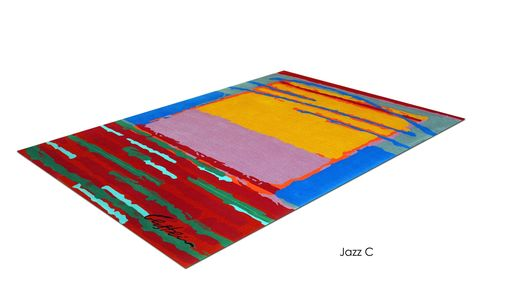 "Custom Made ""Jazz C"" Inspired By Israeli Artist, David Gerstein- Custom Rugs Collection By Allure Rug."
