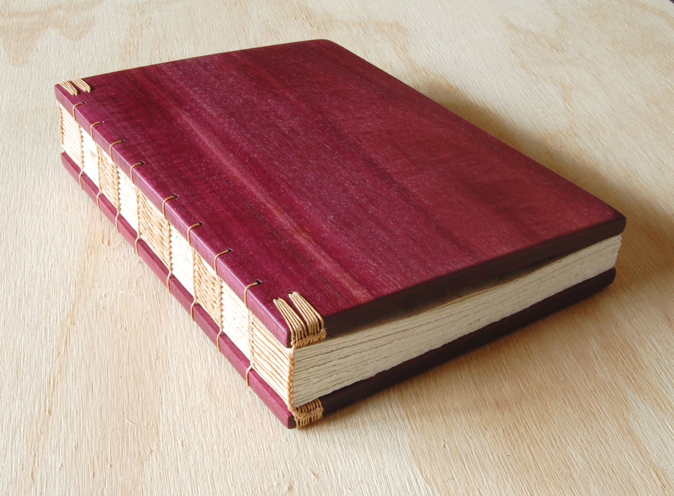 Hand Made Wedding Guest Book - Purpleheart Wood Book - Anniversary ...