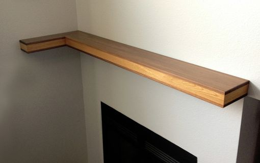 Custom Made Modern Fireplace Mantle