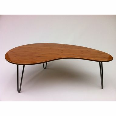 Custom Made Coffee Table - Kidney Bean Shaped Atomic Eames Era Boomerang Design Mcm Inspired