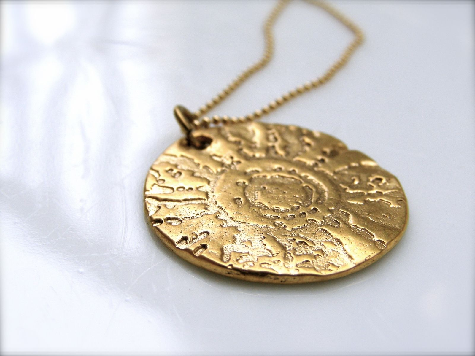 necklaces necklace womens gold white pendant to add cart personalised luisa jewellery disc pendants verling shop