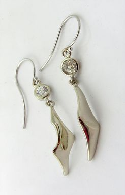Custom Made Unique 14k Gold Diamond Custom Earrings