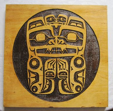 Custom Made Haida Tribal Native American Art - Pacific Northwest Tribal Inspired Carving