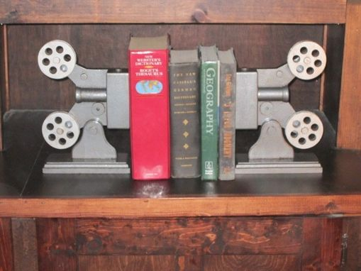 Custom Made Antique Movie Projector Bookends