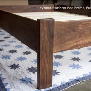 simple queen size platform bed frame hardwoods ash oak maple ambrosia maple cherry or walnut - Custom Bed Frames