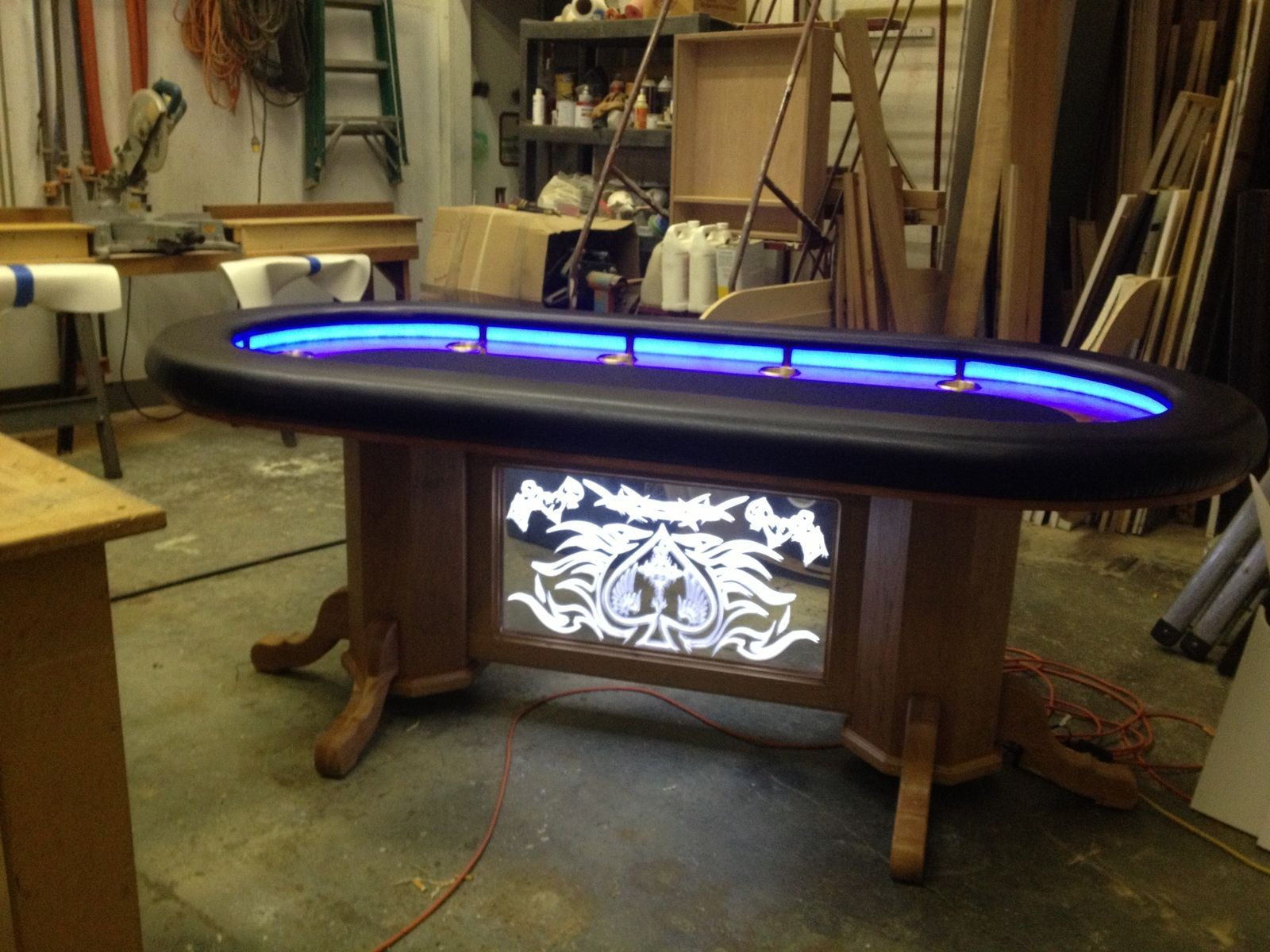 Hand Crafted Texas Holdem Table By Raw Creations Cnc