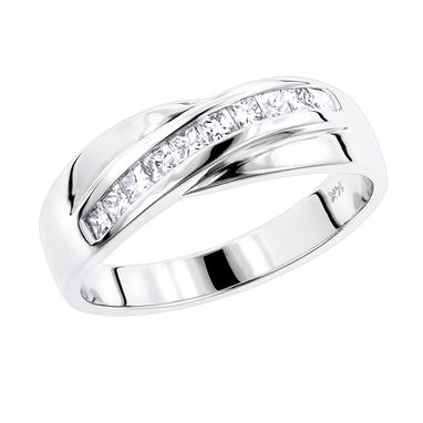 Custom Made Men's Diamond Wedding Ring
